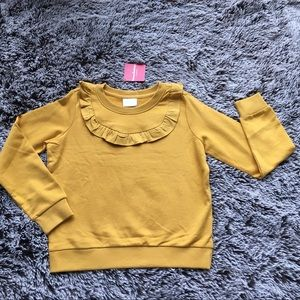 New Hanna Andersson sweater top golden 150 10-12